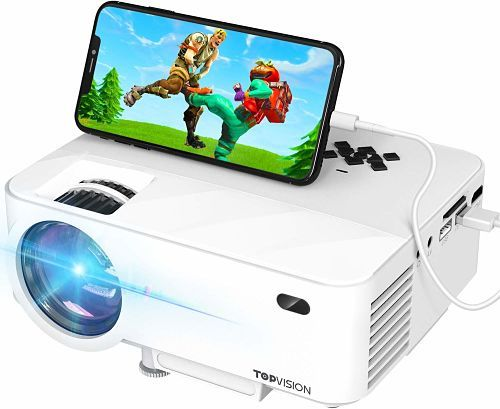 TOPVISION T21 Projector with Synchronize Smart Phone Screen