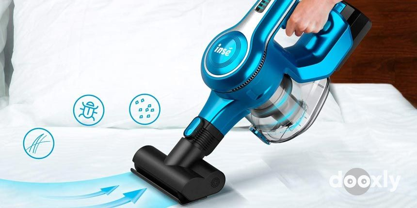 INSE Cordless Stick Vacuum Cleaner 23KPa Powerful Suction with 250W Motor
