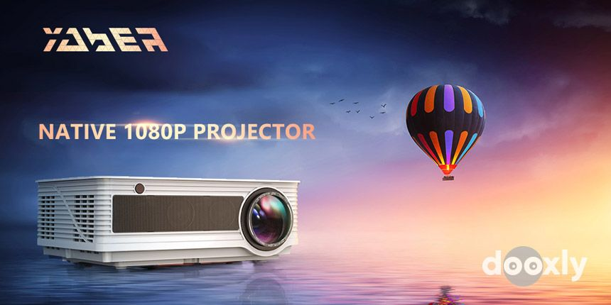 Projector, YABER Native 1080P Movie Projector with 6500 Lumens