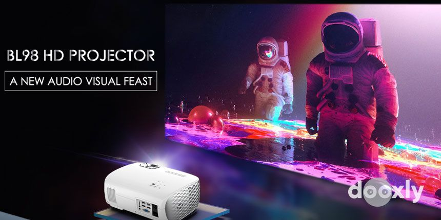 GooDee BL98 Native 1080P HD Video Projector