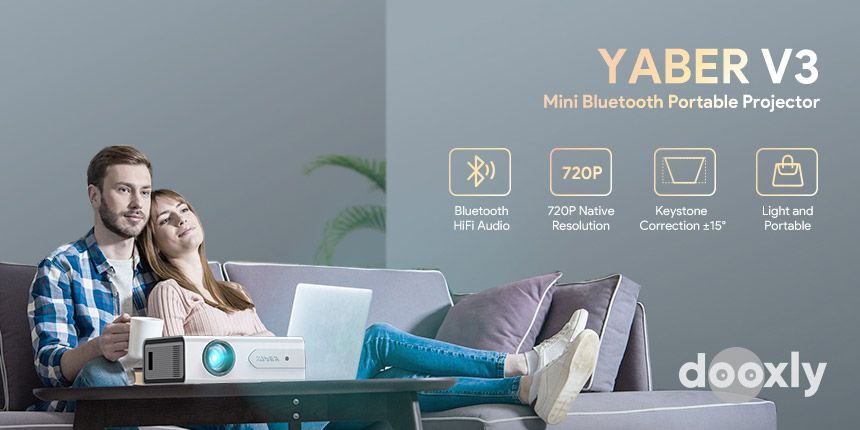 Projector, YABER V3 Mini Bluetooth Projector