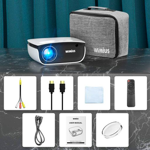 WiMiUS New S25 Home & Outdoor Movie Projector Support 1920 x 1080P 200 Screen