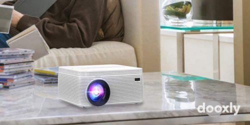 BIGASUO Bluetooth Full HD Projector Built in DVD Player Review | Portable Mini Projector 5500 Lumens