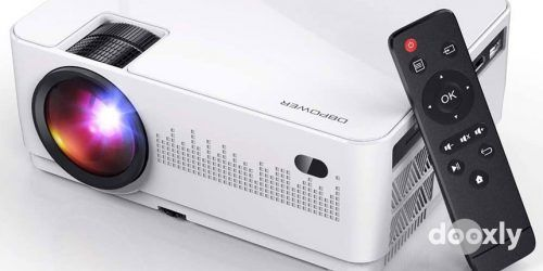DBPOWER L21 LCD Video Projector Review | Upgraded 6000L 1080P Supported Full HD