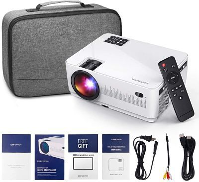 DBPOWER L21 LCD Video Projector with Carrying Case, 6000L 1080P