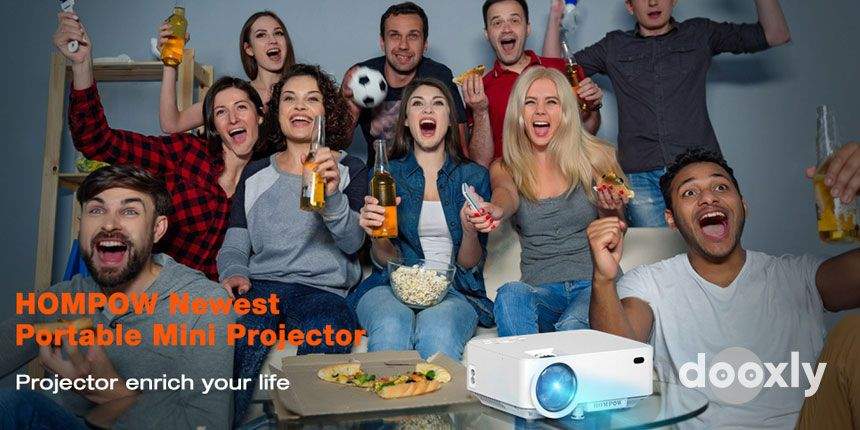 Hompow T20 Smartphone Portable Video Projector 1080P