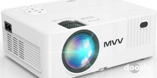 MVV Mini Projector MV-01 Review | 6000 Lux 1080P Supported Outdoor Movie Projector
