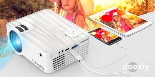 TOPVISION T6 Review | Video Projector, TOPVISION 5500L Portable Mini
