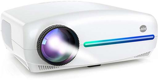 VIVIMAGE Explore 3 Projector for Outdoor Movies, Full HD 300 Native 1080P Projector 60Hz Compatible TV Stick