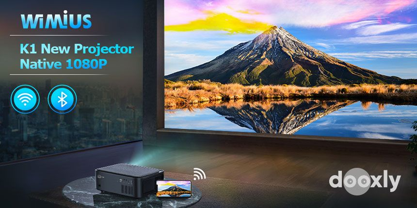 WiMiUS K1 Video Projector Native 1920x1080 LED