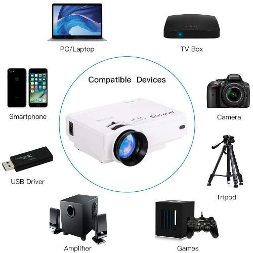 AuKing Mini Projector 2021 Upgraded Portable Video-Projector