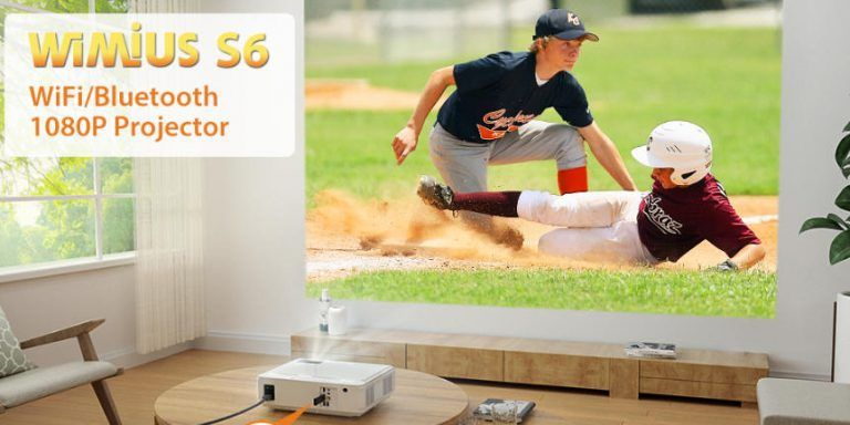 WiMiUS S6 Review | WiFi Bluetooth Projector 7500L, New WiMiUS S6 Native 1080P