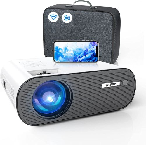 WiFi Projector Bluetooth, WiMiUS K5 Mini Projector Support 1080P&200'' Display